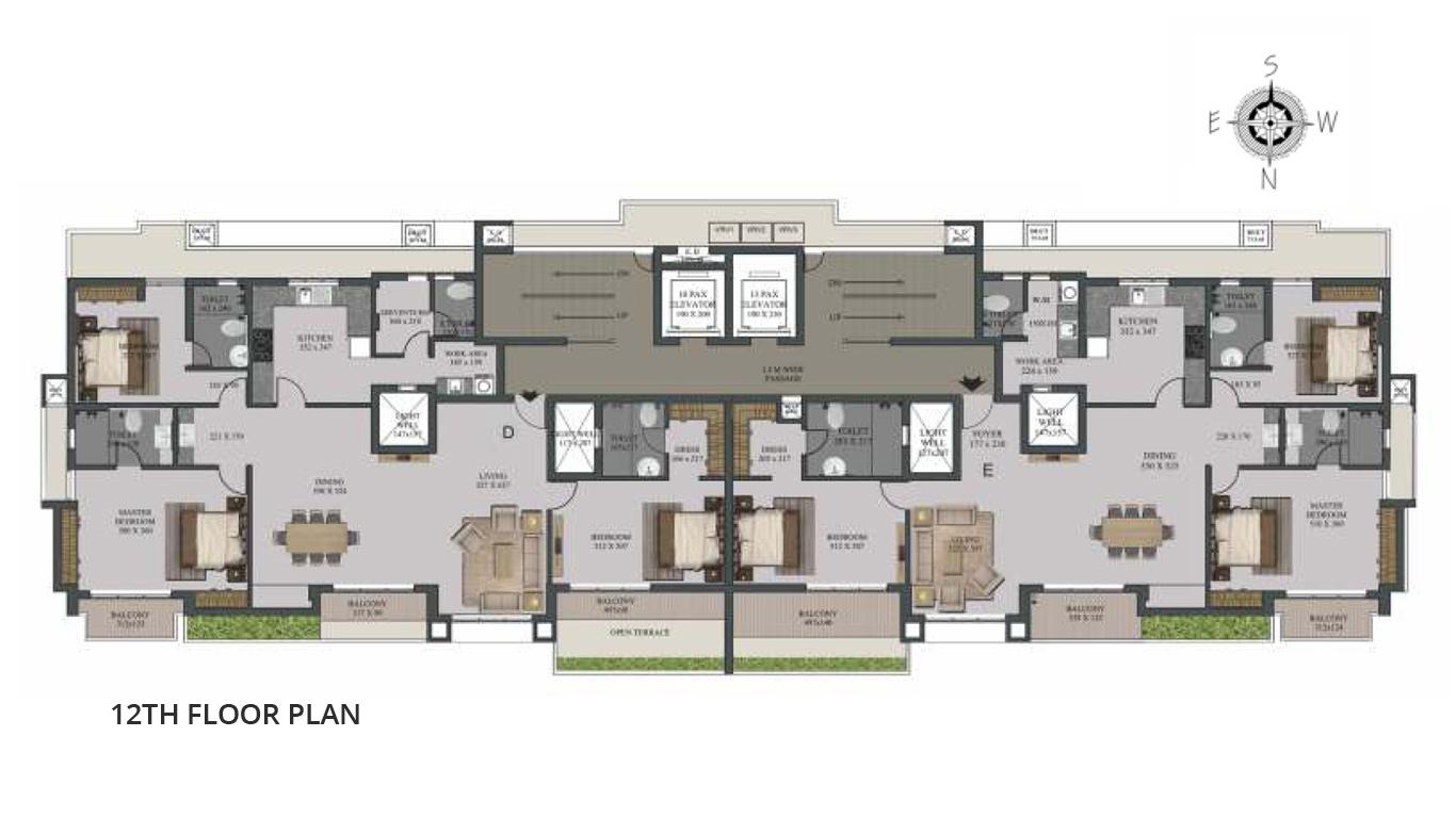 12th Floor Plan