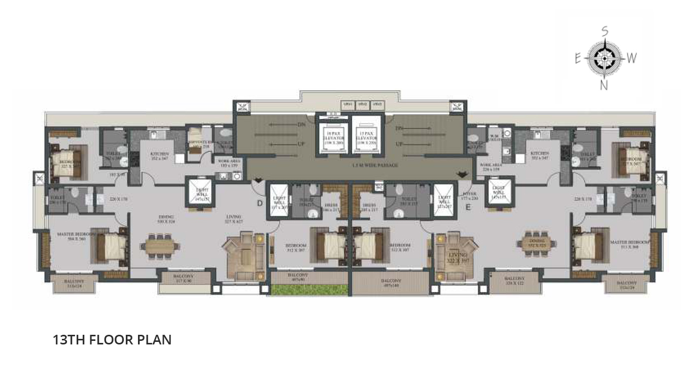 13th Floor Plan