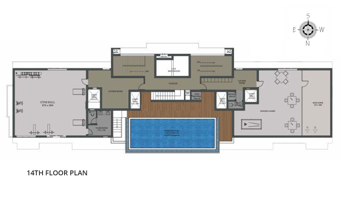 14th Floor Plan