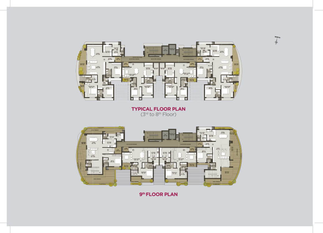 Typical Floor Plan (3rd-8th), 9th Floor Plan