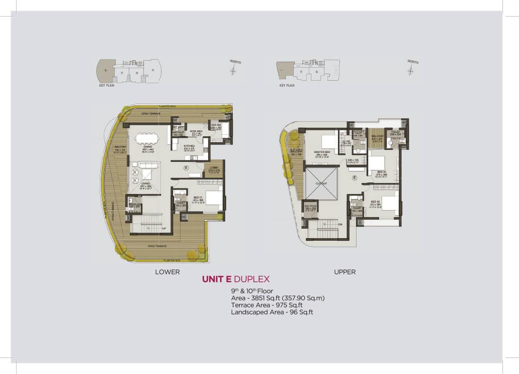 Unit E Duplex (9th & 10th)