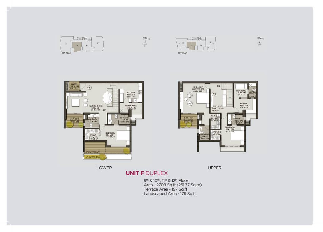 Unit F Duplex (9th to 12th)