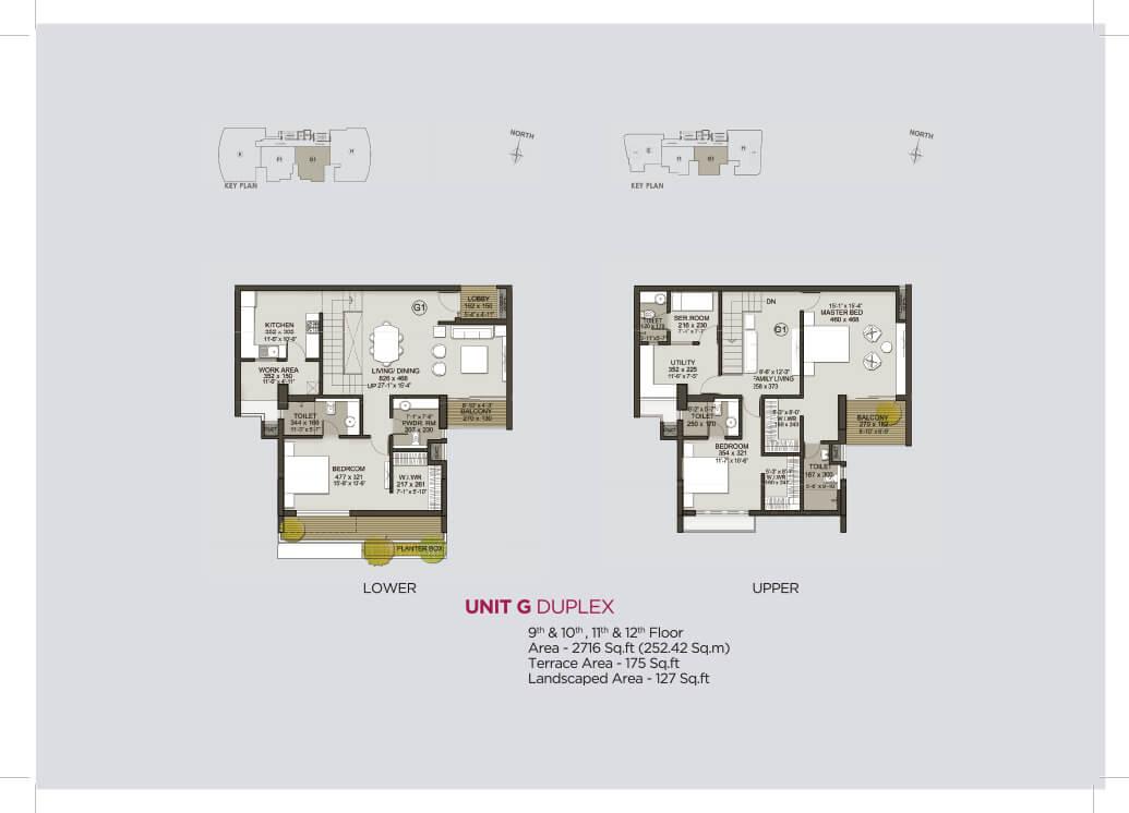 Unit G Duplex (9th to 12th)