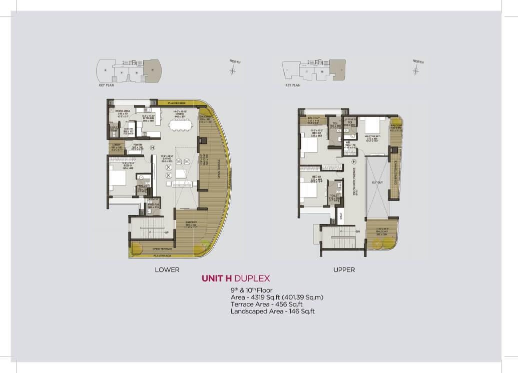 Unit H Duplex (9th & 10th)