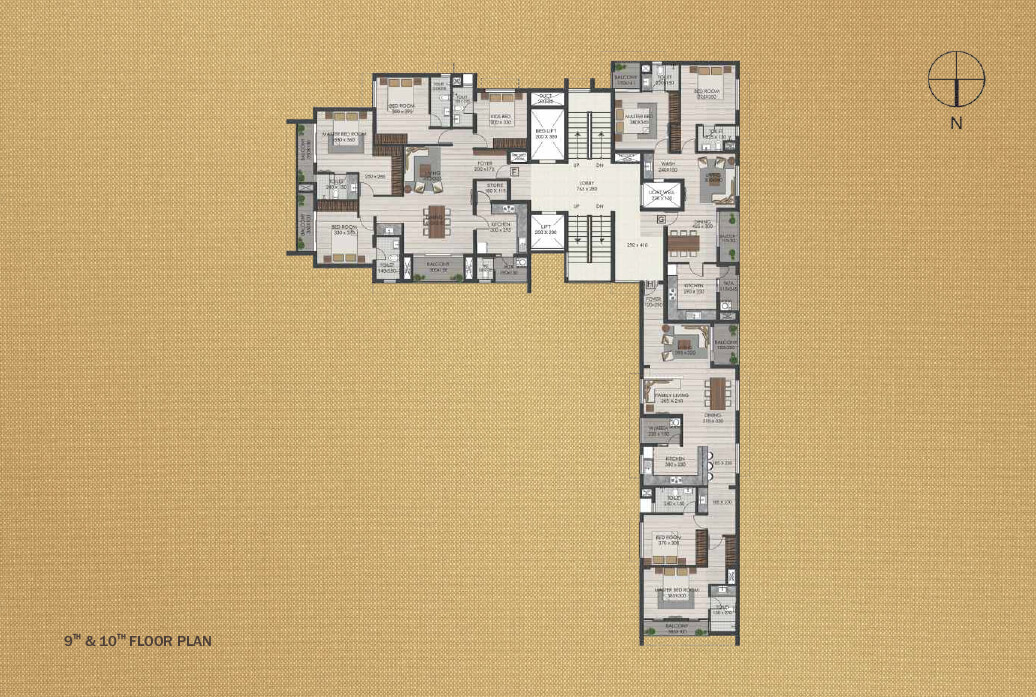 9th and 10th Floor Plan
