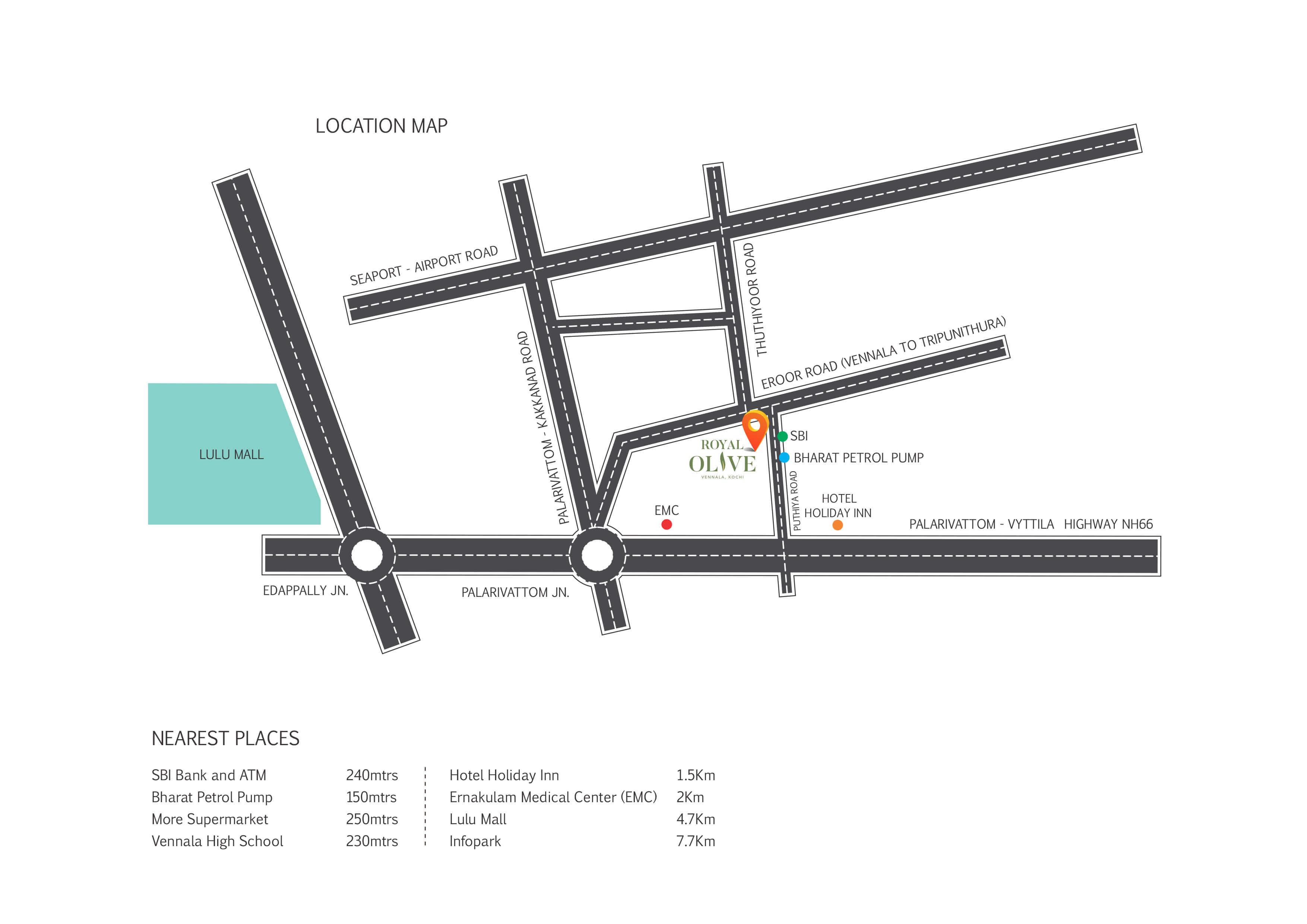Location Map - Royal Olive Kochi