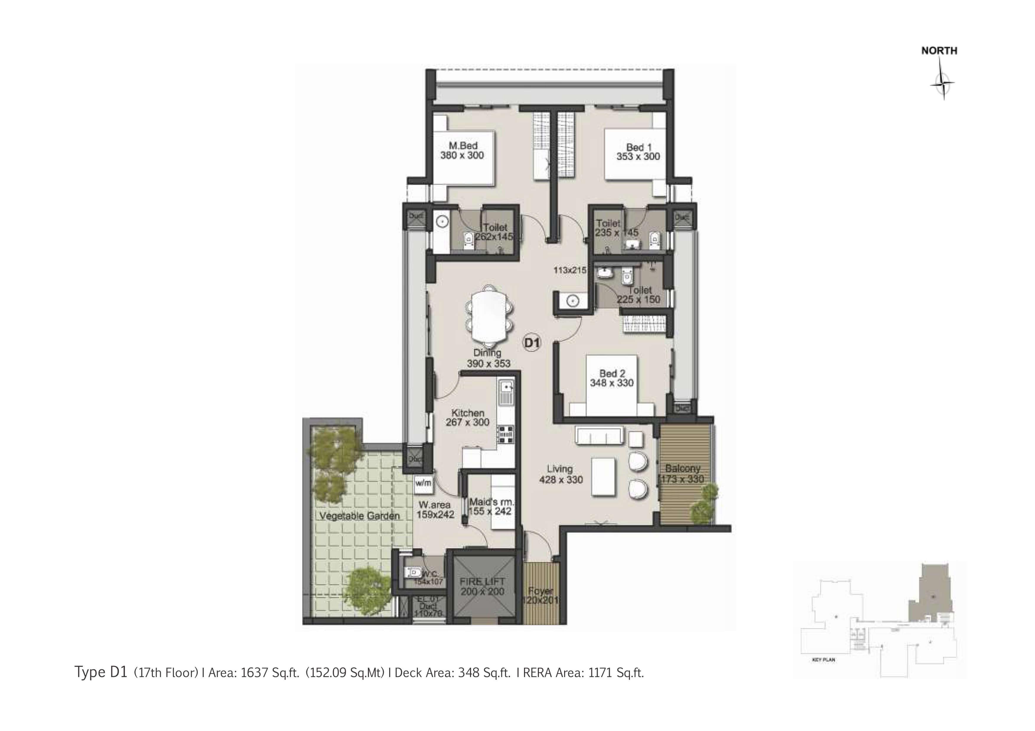 Type D 1 Floor Plan