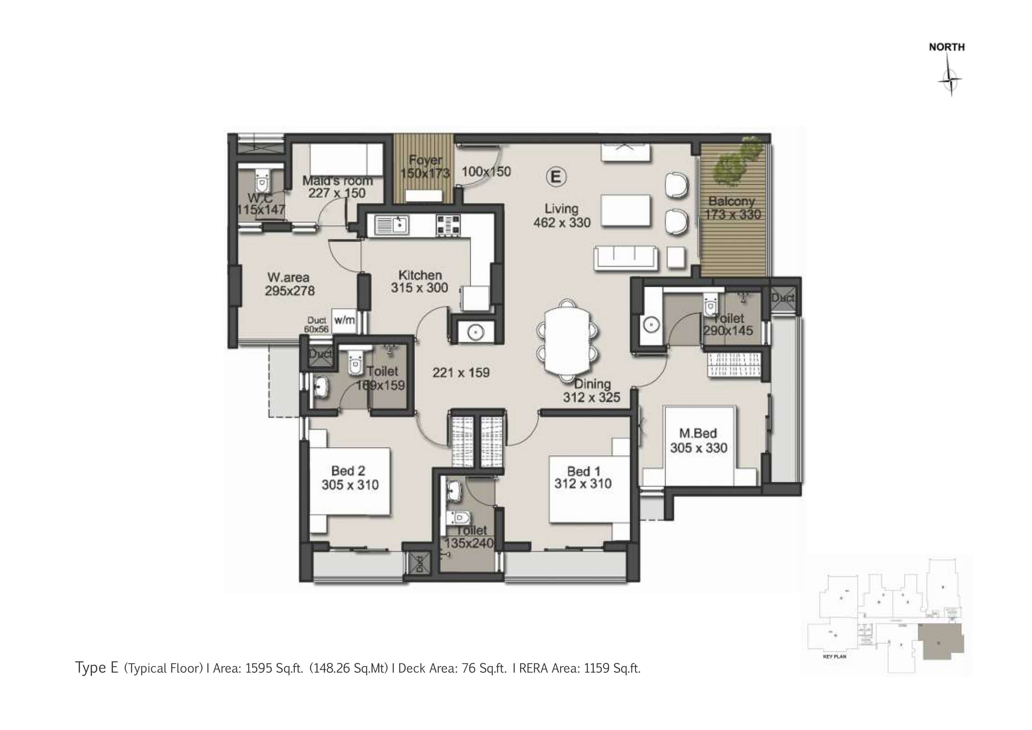 Type E Floor Plan