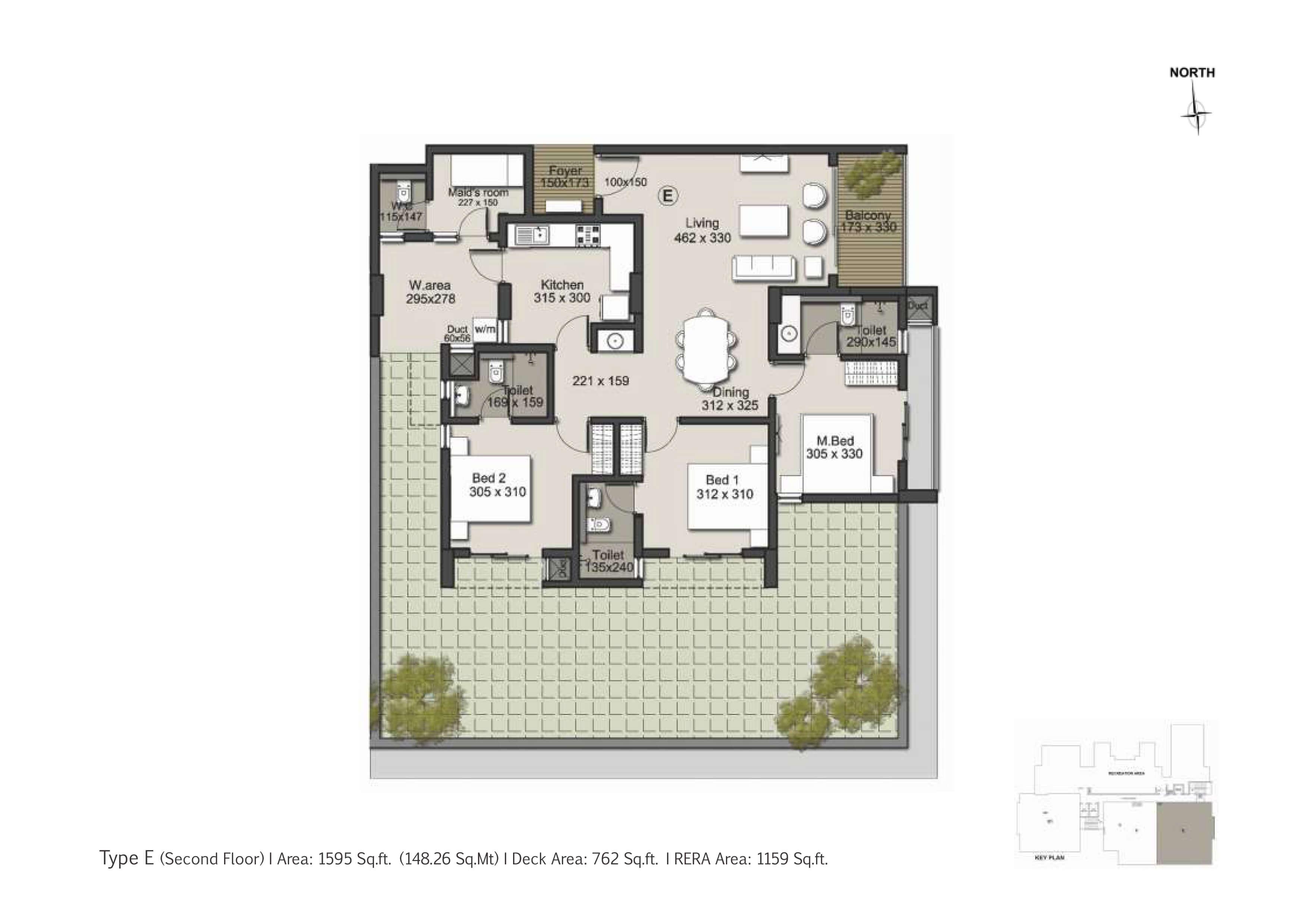 Type E Second Floor Plan