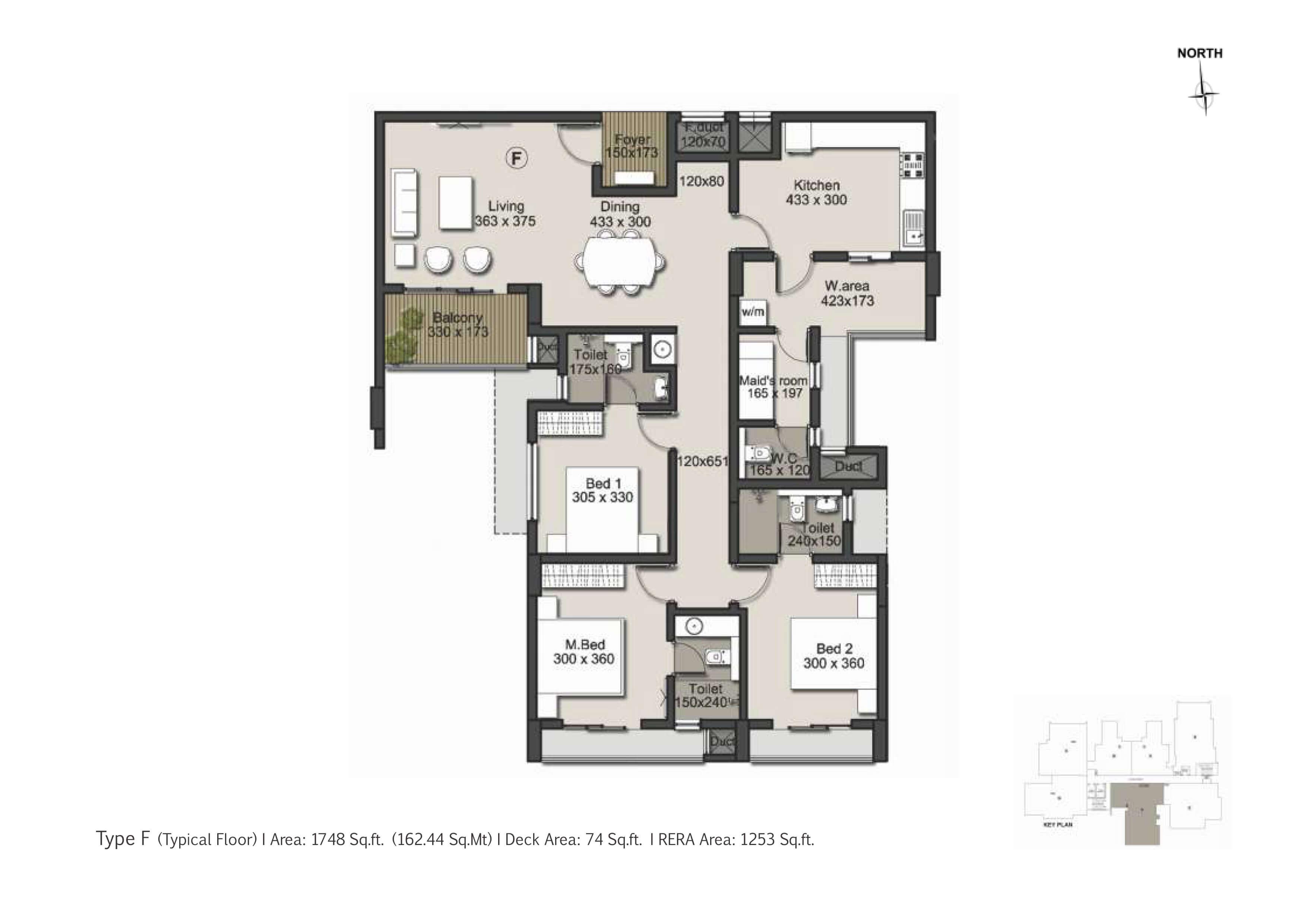 Type F Floor Plan