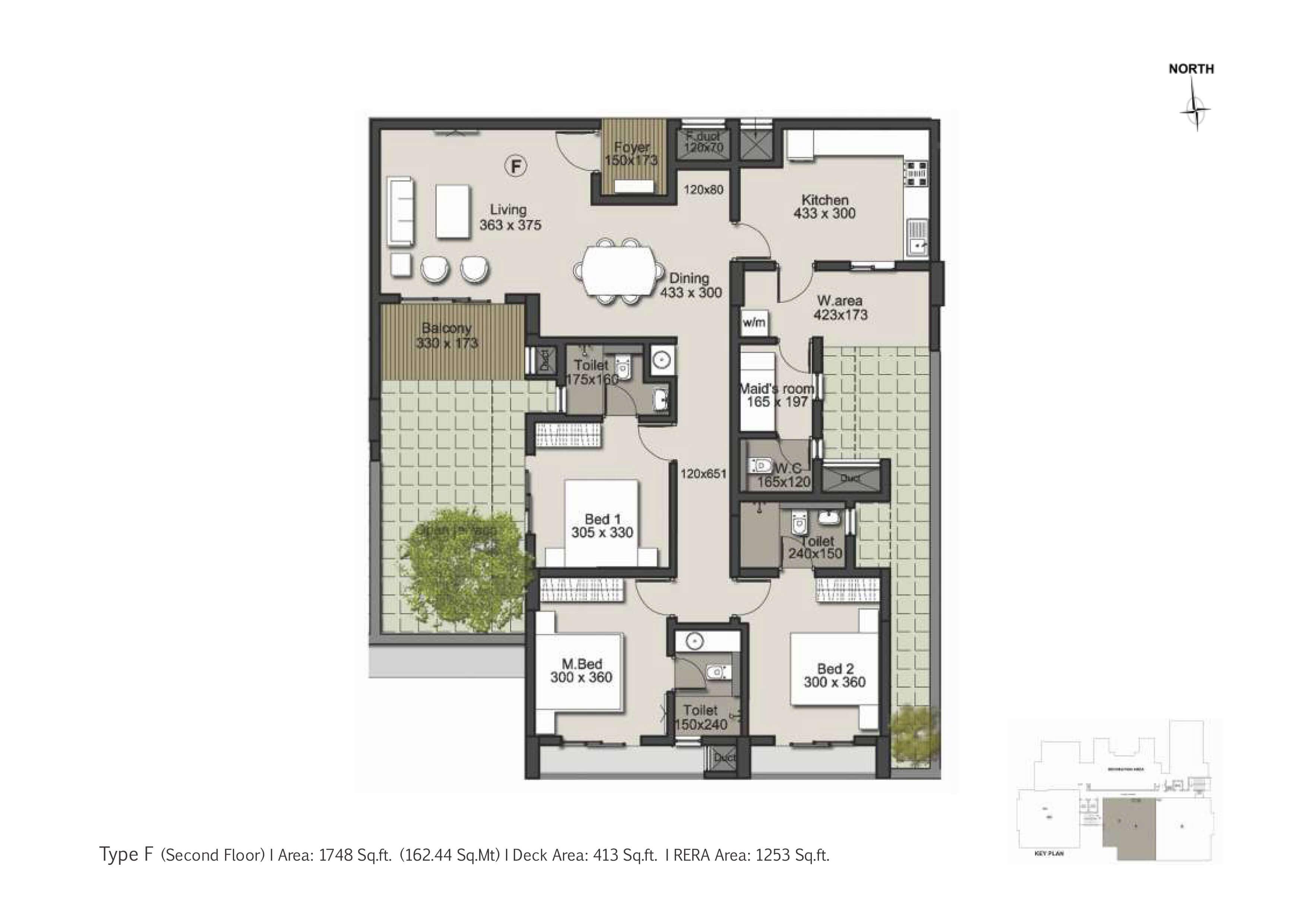 Type F Second Floor Plan