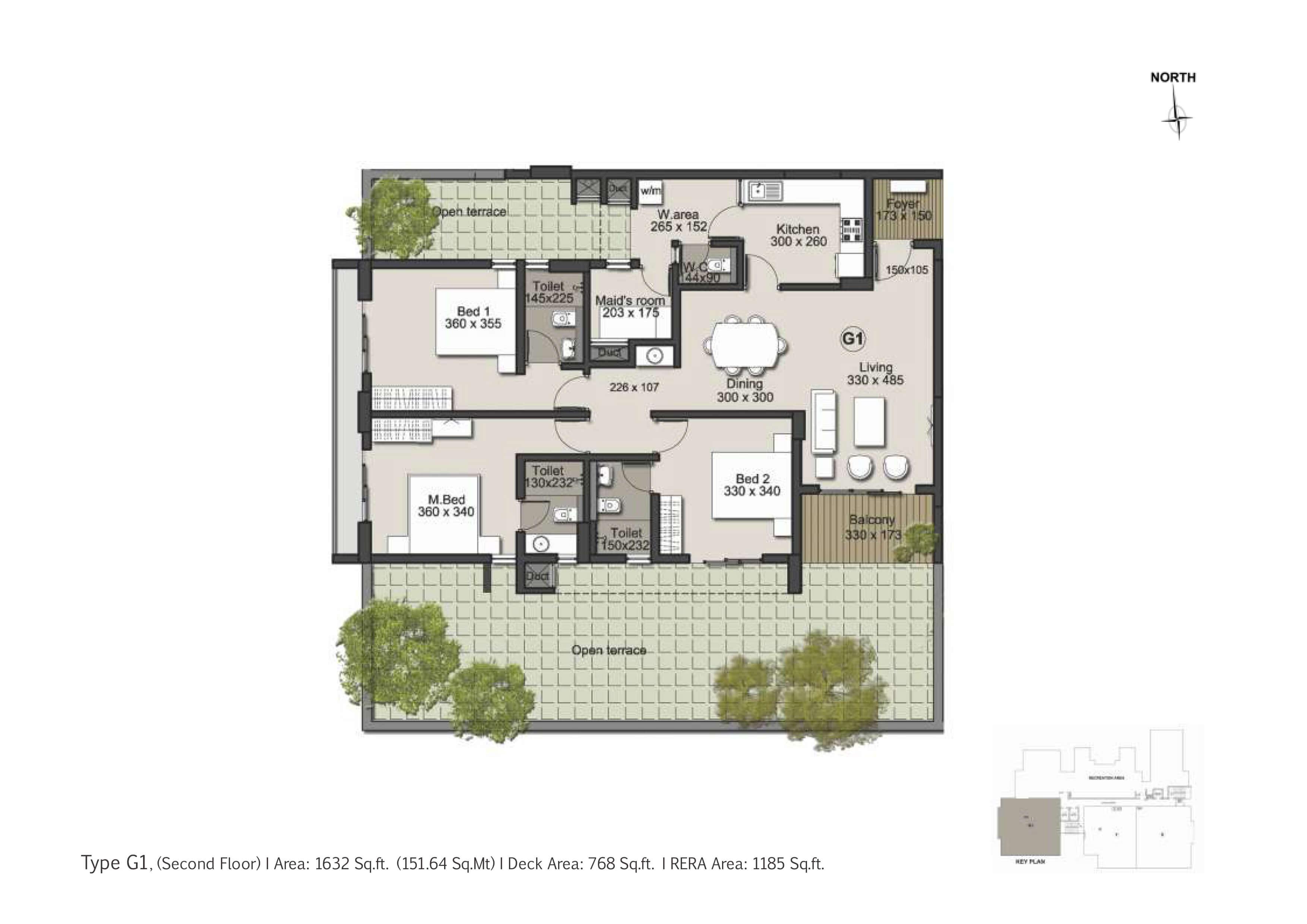 Type G1 Floor Plan